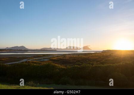 New Zealand, Northland, Ruakaka Beach, Sunrise at Ruakaka Beach - Stock Photo