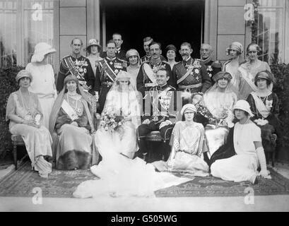 Royalty - Prince Paul of Serbia and Princess Olga of Greece and Denmark Wedding - Belgrade - Stock Photo