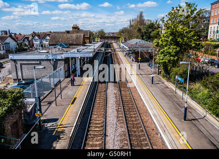 Westcliff railway station is on the c2c London, Tilbury and Southend Railway line, serving the locality of Westcliff - Stock Photo