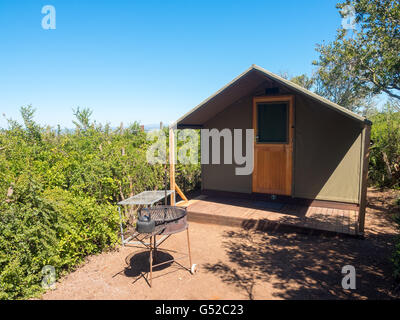 South Africa, Eastern Cape, Western District, Addo Elephant National Park, Spekboom, Overnight accommodation in - Stock Photo