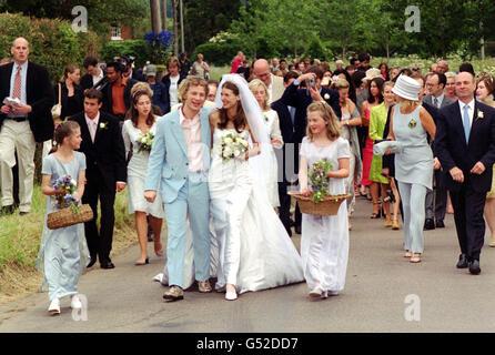 Jamie Oliver wedding - Stock Photo