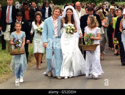 Jamie Oliver wedding bride - Stock Photo
