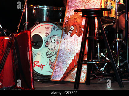 Guildford Live Rolf Harris drums - Stock Photo