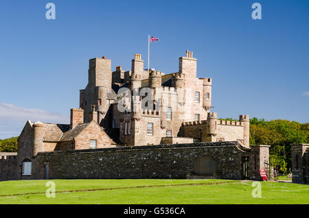 United Kingdom, Scotland, Highland, Thurso, View of Mey Castle, Castle Mey, near John o 'Groats, Queen Mother's - Stock Photo