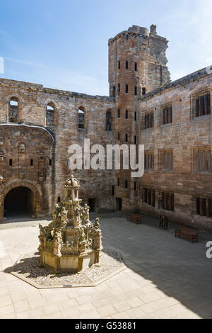 United Kingdom, Scotland, West Lothian, Linlithgow, Linlithgow Palace, Mary Queen of Scots / Maria Stuart Place - Stock Photo