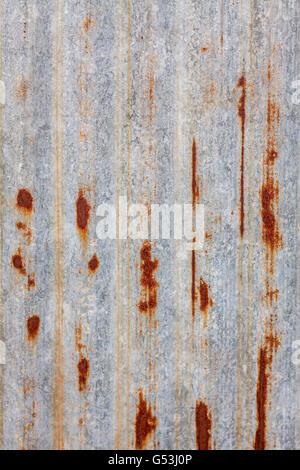 Rusted galvanized iron plate background - Stock Photo