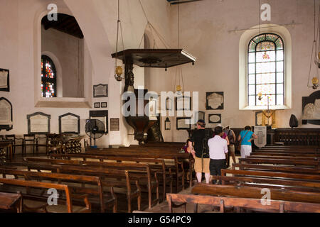 Sri Lanka, Galle Fort, Church Street, Groote Kerk or Dutch Reformed Church, interior - Stock Photo