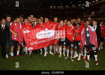 Soccer - npower Football League One - Play Off Semi Final - First Leg - Sheffield United v Stevenage - Bramall Lane - Stock Photo