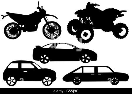 Illustration of a different automobile - Stock Photo