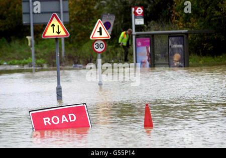 Essex Gales & floods - Stock Photo