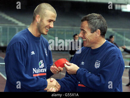 Soccer - Friendly Match - England Training Session - Stock Photo