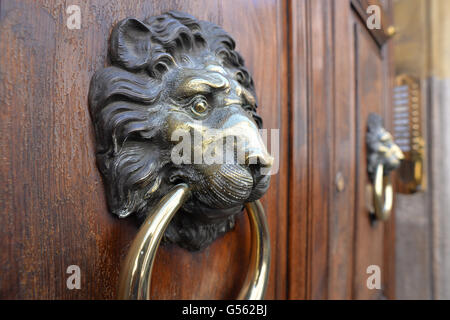 ... Lion Head Door Knocker Rome   Stock Photo