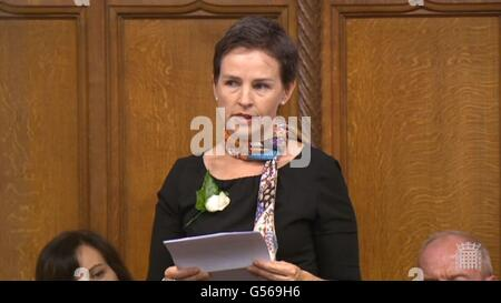 Labour MP Mary Creagh speaks in the House of Commons, London, as MPs gather to pay tribute to Labour MP Jo Cox. - Stock Photo