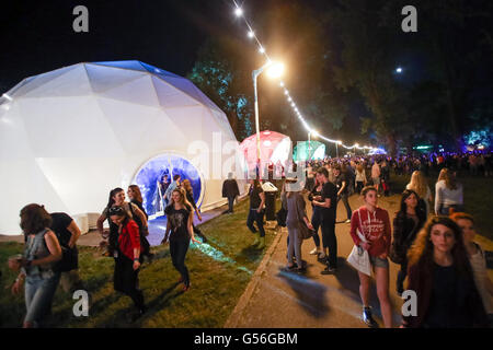 Zagreb, Croatia. 20th June, 2016. : Ambience and atmosphere on the first day of 11th INmusic festival located on - Stock Photo