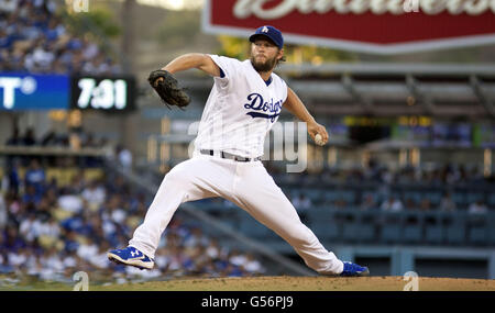 Los Angeles, CALIFORNIA, UNITED STATES OF AMERICA, USA. 20th June, 2016. JUNE 20: Clayton Kershaw #22 of the Los - Stock Photo