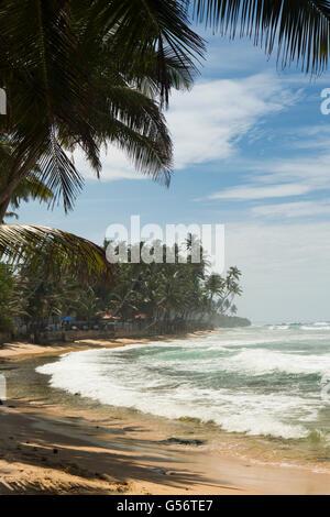Sri Lanka, Galle Province, Unawatuna, Thalpe, Wijaya beach - Stock Photo