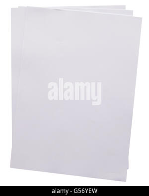 white paper sheet on isolaied with clipping path. - Stock Photo
