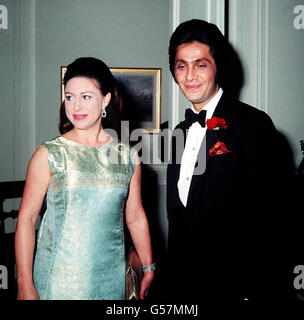 PRINCESS MARGARET AND VALENTINO : 1968 - Stock Photo