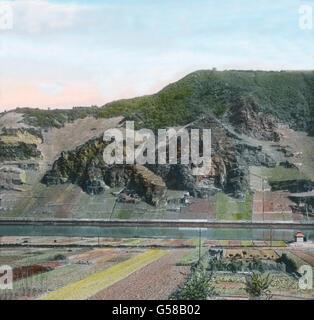 Das Erdener Treppchen, an der Mosel gelegen. Aufnahme vor 1905.  Europe, Germany, Moselle, river, area, district, - Stock Photo