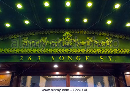 Elgin and Winter Garden details. They are the last surviving Edwardian stacked theaters in the world.   The Elgin - Stock Photo