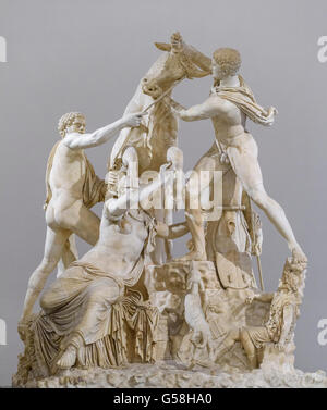 Naples. Italy. The Farnese Bull, Naples National Archaeological Museum. From the Terme di Caracalla. Museo Archeologico - Stock Photo