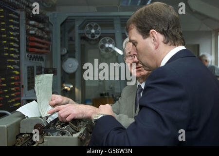 Prince Andrew Bletchley Park - Stock Photo