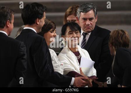 Aung San Suu Kyi visits to UK Day 3 - Stock Photo