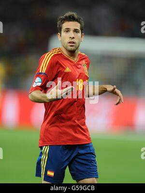 Soccer - UEFA Euro 2012 - Final - Spain v Italy - Olympic Stadium - Stock Photo