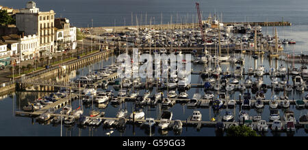 GB - DEVON: Torquay Harbour Panorama - Stock Photo
