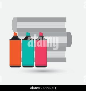 books design. learning icon. Colorfull illustration, vector grap - Stock Photo