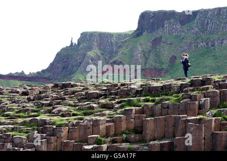 Giant's Causeway visitors' centre opening - Stock Photo