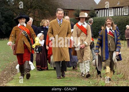 Prince Charles Civil War re-enactment - Stock Photo
