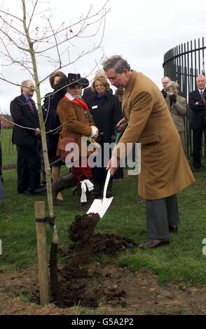 Prince of Wales Shropshire visit - Stock Photo