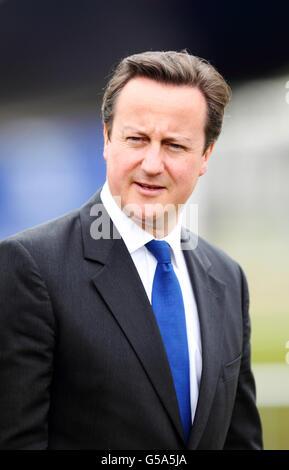 Prime Minister David Cameron visits Airbus at the Farnborough International Airshow in Hampshire.