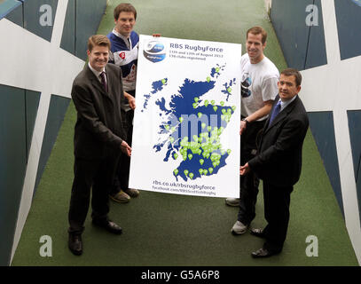 Rugby Union - Launch of RBS New RugbyForce Initiative - Murrayfield - Stock Photo