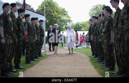 Royal visit to West Midlands - Stock Photo
