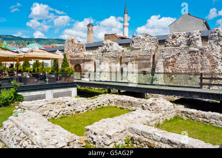 Taslihan, former caravansarai, Bascarsija, old bazaar quarter, Sarajevo, Bosnia and Herzegovina, Europe - Stock Photo
