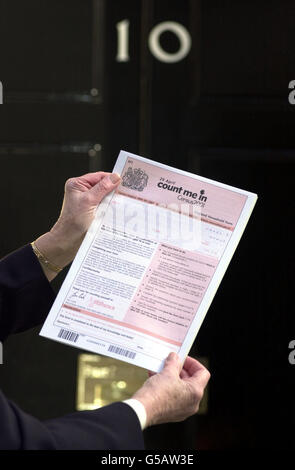 London Census 10 Downing St - Stock Photo