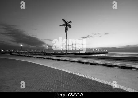 Durban beachfront in the early morning - Stock Photo