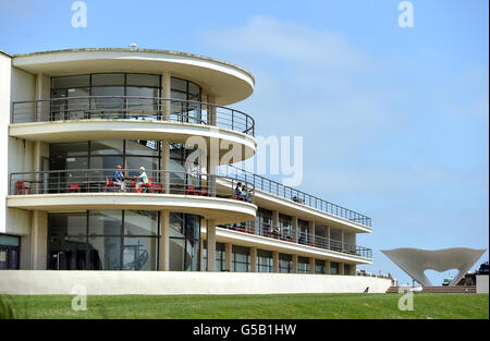 De La Warr Pavilion, Bexhill, East Sussex, designed by  Erich Mendelsohn and Serge Chermayeff and constructed in - Stock Photo