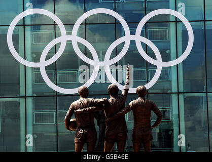 Olympics - Preparations at Old Trafford - Stock Photo