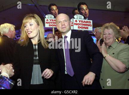 William and Ffion Hague - Stock Photo