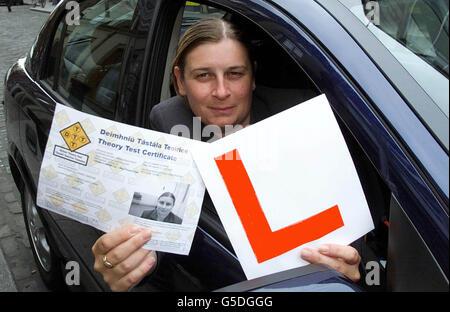 Dublin Driving Theory test Rigney - Stock Photo