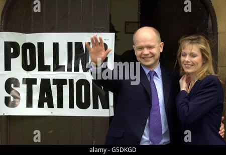 Election Hague Ffion Votes - Stock Photo