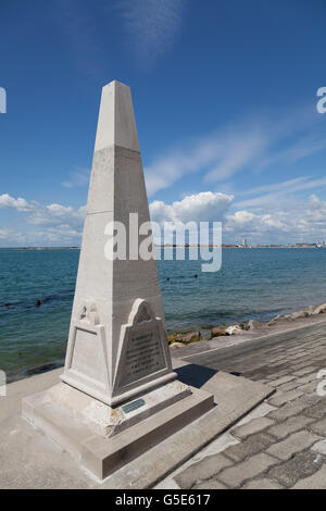 HMS Aboukir Memorial on the seafront at Southsea, Portsmouth, Hampshire, England, United Kingdom, Europe - Stock Photo