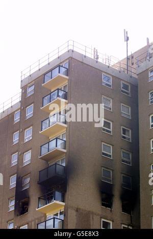 Ramsgate flat fire - Stock Photo