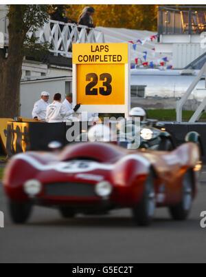 Goodwood Revival historic motor race meeting - Stock Photo