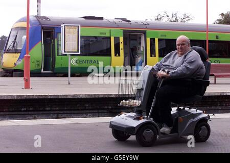Train Ban for Arthritic Passenger - Stock Photo