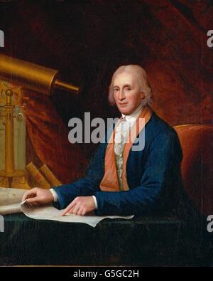Charles Willson Peale - David Rittenhouse - Stock Photo
