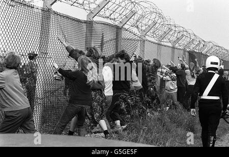 RAF Greenham Common Protest - Stock Photo